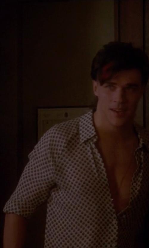 Finn Wittrock with Dolce & Gabanna Polka Dot Print Shirt in American Horror Story