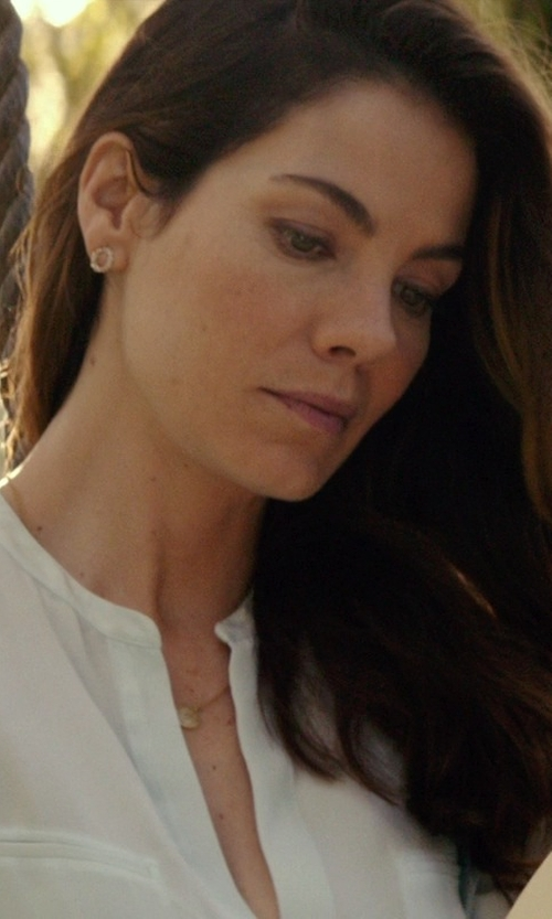 Michelle Monaghan with Lagos 'Voyage' Caviar Stud Earrings in The Best of Me