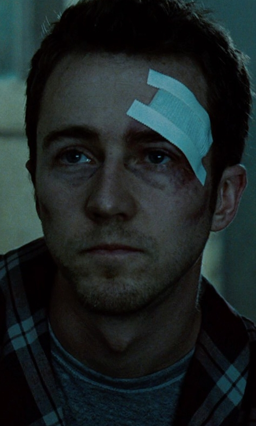 Edward Norton with T by Alexander Wang Soft Cotton T-Shirt in Fight Club