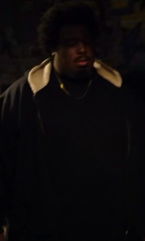 Da'Vone McDonald with Buffalo Men's Soft Shell Zip Front with Hood Bib in Walk of Shame