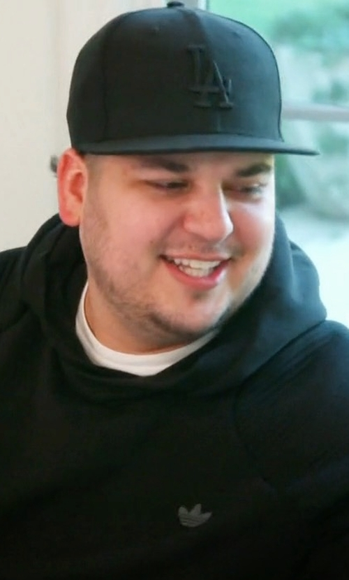 Rob Kardashian with Adidas Originals Sport Luxe Moto Hoodie Sweatshirt in Keeping Up With The Kardashians