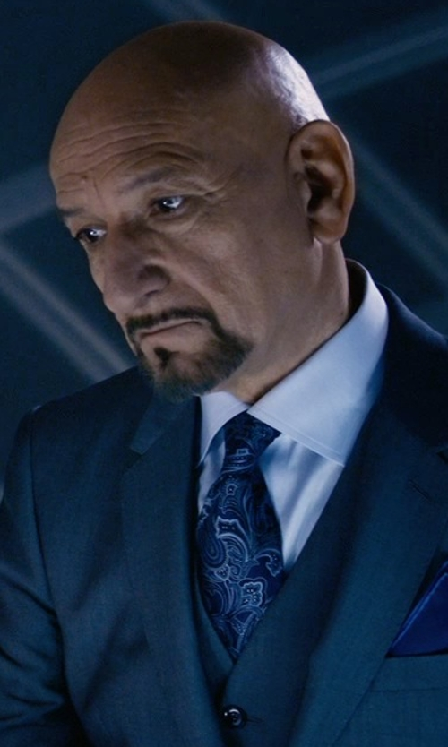 Ben Kingsley with Etro Paisley-Print Silk Tie in Self/Less