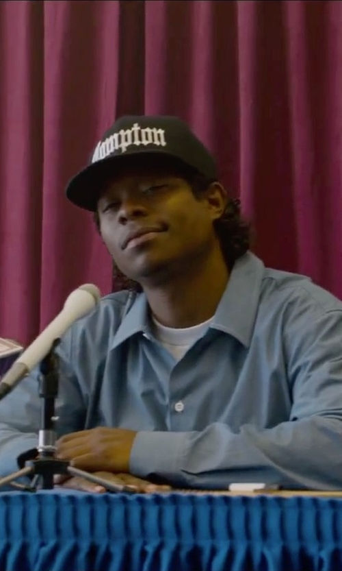 Jason Mitchell with Polo Ralph Lauren English Poplin Solid Dress Shirt in Straight Outta Compton