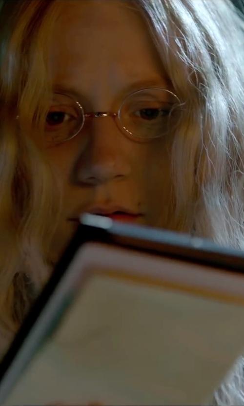 Mia Wasikowska with Lamy Platnium Eyeglasses in Crimson Peak