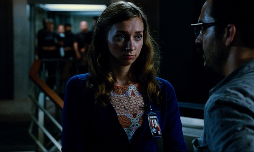 Lauren Lapkus with Valentino L'Amour Heart Pendant Necklace in Jurassic World