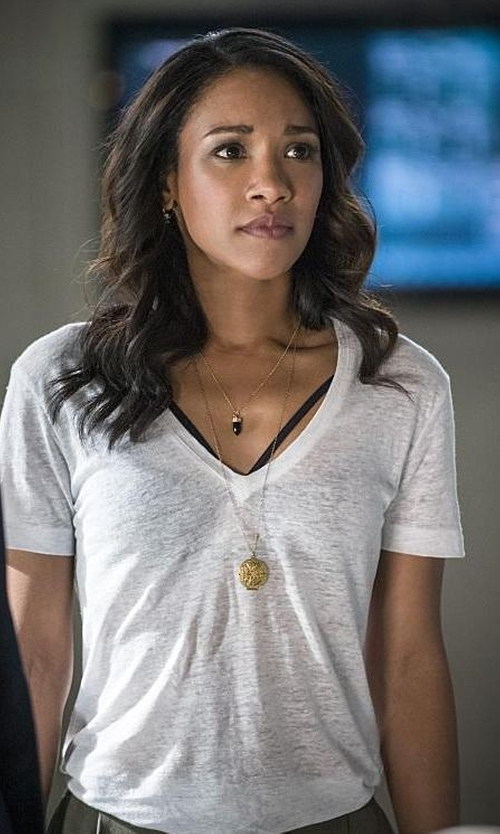 Candice Patton with Joe's Jeans Session Tee in The Flash