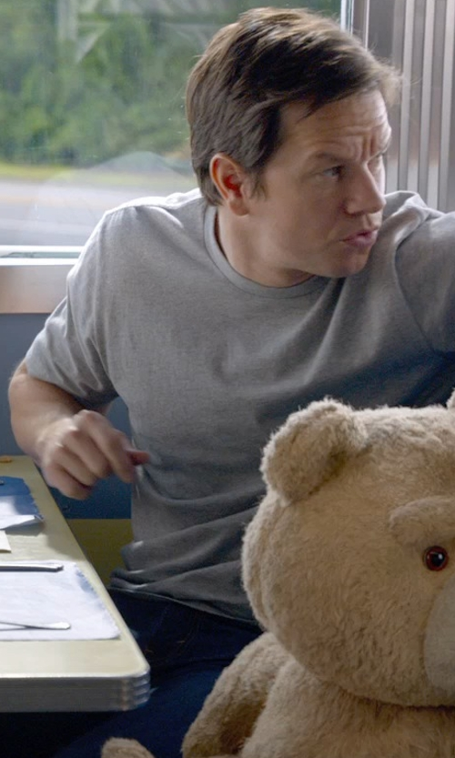 Mark Wahlberg with Cycle Denim Pants in Ted 2