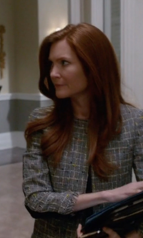 Darby Stanchfield with Kobi Halperin 'Sydney' Fringe Tweed Jacket in Scandal