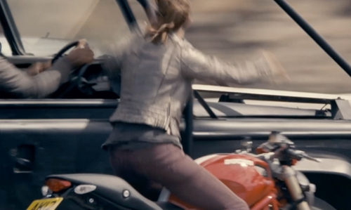 Elsa Pataky with Ducati Monster 1100 Evo Motorcycle in Fast & Furious 6
