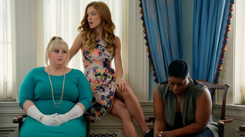 Alexis Knapp with Maeve Shimmered Garden Dress in Pitch Perfect 2