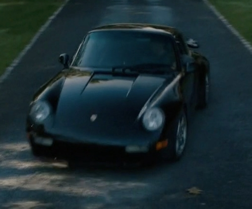 Damian Lewis with Porsche 1996 993 Turbo Coupe in Billions