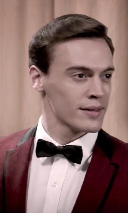 Erich Bergen with Versace Collection Tuxedo Shirt, White in Jersey Boys