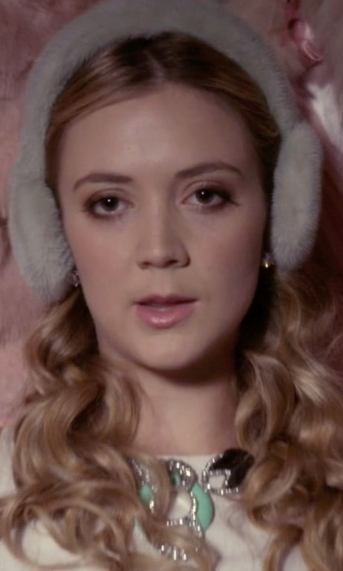 Billie Lourd with Ippolita Glamazon Sterling Silver Hammered Ball Stud Earrings in Scream Queens