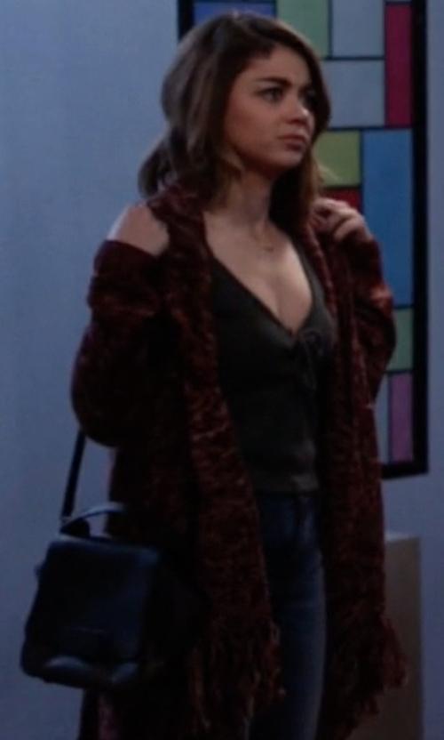 Sarah Hyland with Foley + Corinna Gigi Flap Cross-Body Bag in Modern Family