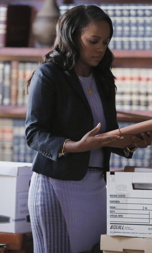 Aja Naomi King with Givenchy Crosses Cady Cropped Blazer in How To Get Away With Murder