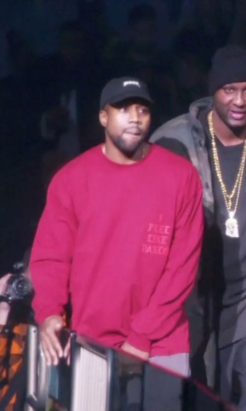 "Kanye West with Yeezy Yeezy The Life Of Pablo ""Yeezus Hat"" in Keeping Up With The Kardashians"