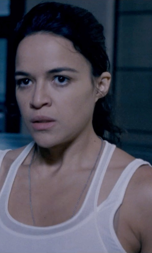 Michelle Rodriguez with James Perse Daily Tank Top in Fast & Furious 6
