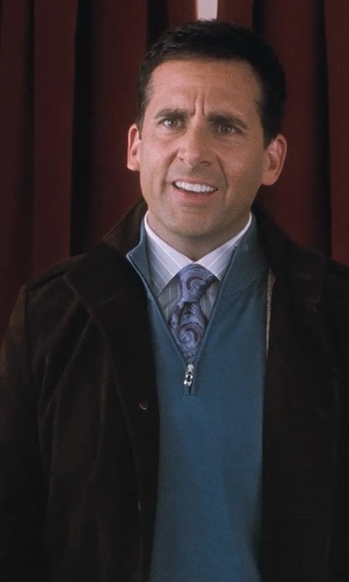 Steve Carell with Ermenegildo Zegna Large-Paisley Silk Tie in Crazy, Stupid, Love.