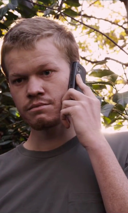 Jesse Plemons with Belstaff Men's Bartlow Crew Neck T-Shirt in The Program