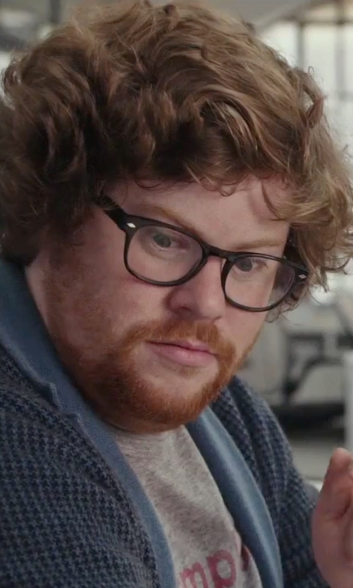 Zack Pearlman with Gucci Plastic Lens Eyeglasses in The Intern