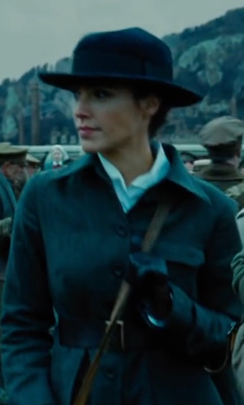 Gal Gadot with Rag & Bone  Wide Brim Wool Fedora Hat in Wonder Woman