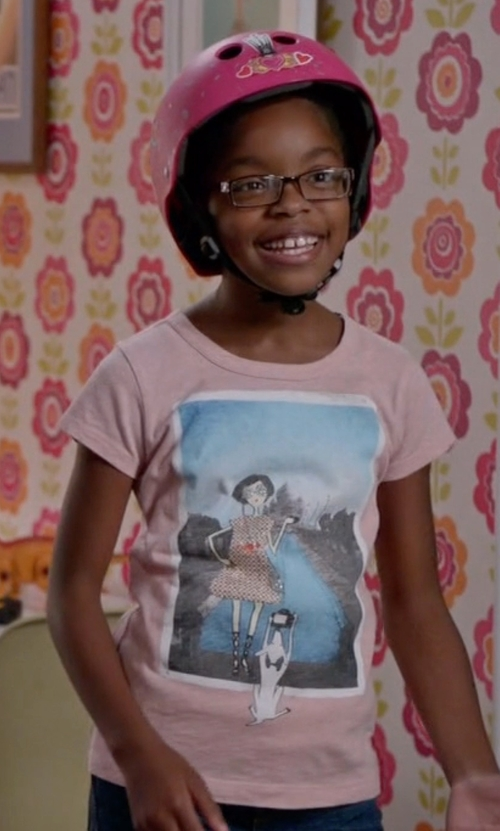 Marsai Martin with J. Crew Girls' Olive Taj Mahal T-Shirt in Black-ish