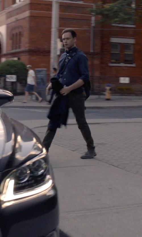 Patrick J. Adams with Acne Studios 'Jared' Blazer in Suits