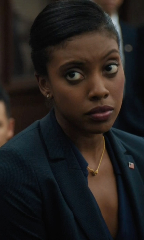 Condola Rashad with Theory Gabe Blazer in Billions