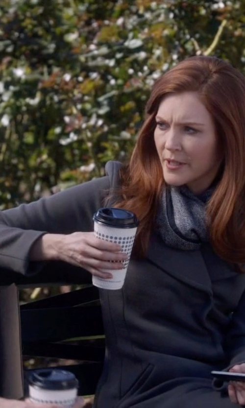 Darby Stanchfield with Nina Ricci Wool Blend Coat in Scandal
