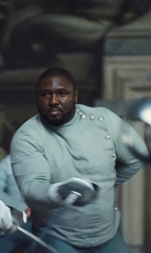 Nonso Anozie with Sandy Powell (Costume Designer) Custom Made Fencing Uniform (Captain) in Cinderella