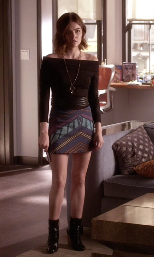 Lucy Hale with Derek Lam 10 Crosby Emery Boots in Pretty Little Liars