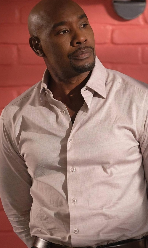 Morris Chestnut with Eton of Sweden Contemporary-Fit Herringbone Dress Shirt in Rosewood