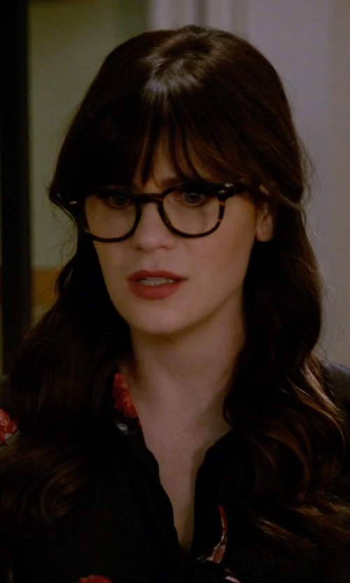 a86459f0be Oliver Peoples Stock. New Girl Season 5 Episode 11 Clothes Outfits and
