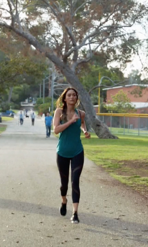Megan Fox with Michi Hydra Crop Leggings in New Girl