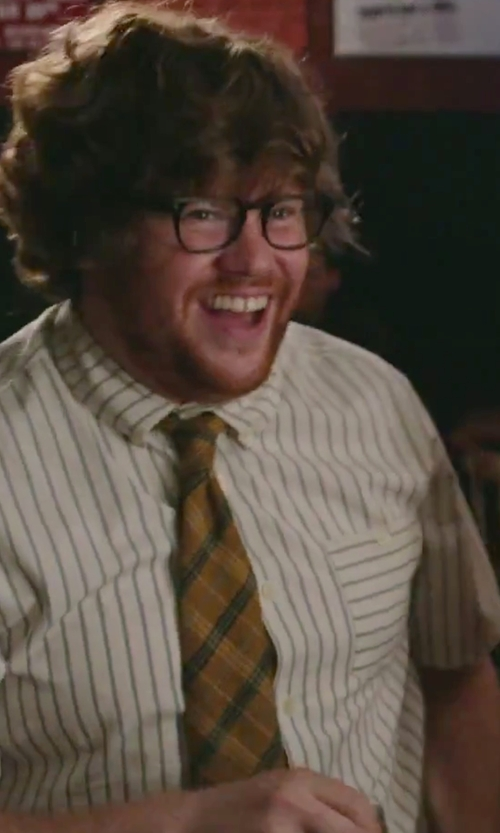 Zack Pearlman with Retreez Tartan Plaid Check Tie in The Intern