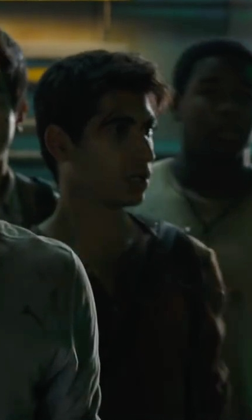 Alexander Flores with Tommy Bahama 'Grand Thermal' Island Modern Fit Henley Shirt in Maze Runner: The Scorch Trials