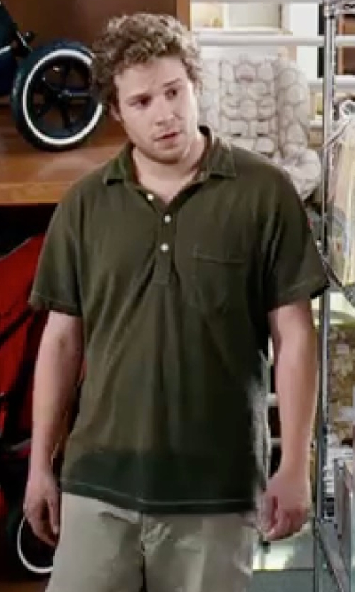 Seth Rogen with Fred Perry Solid Polo Shirt in Knocked Up