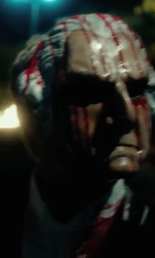 Unknown Actor with Funny Party Hats George Washington Latex Mask in The Purge: Election Year