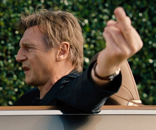Liam Neeson with Bentley Continental GT Convertible Luxury Car in Entourage