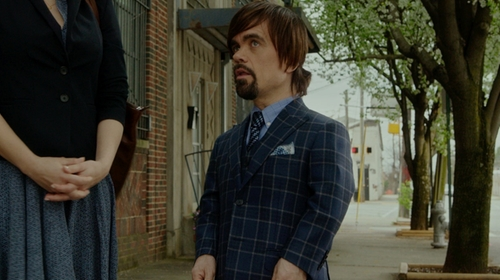Peter Dinklage with Isaia  Super 140s Plaid Suit in The Boss
