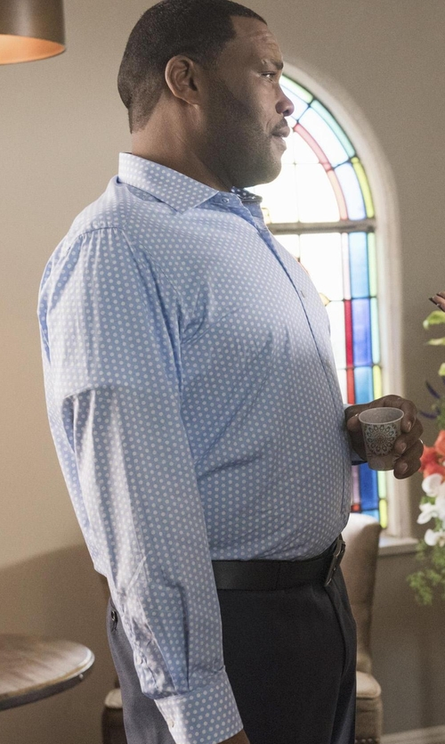 Anthony Anderson with 7 Diamonds 10 Mile Stereo Dot Sportshirt in Black-ish