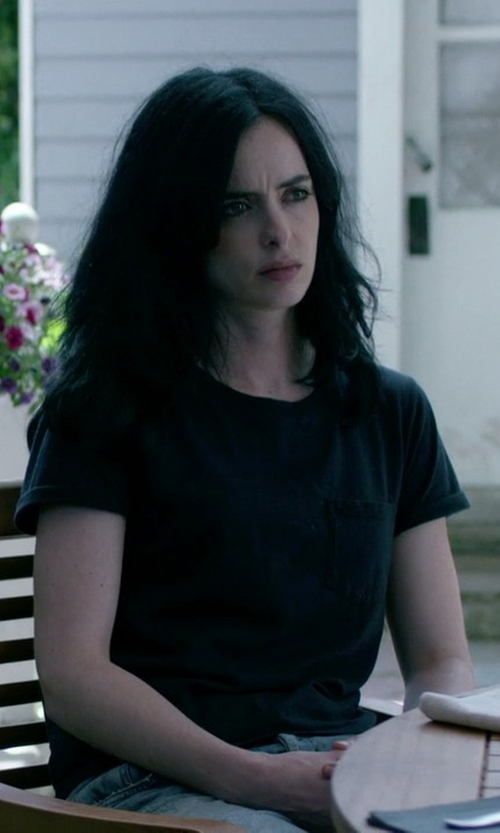 Krysten Ritter with Rag & Bone The Pocket Jersey T-Shirt in Jessica Jones