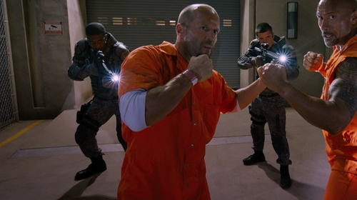Jason Statham with Bob Barker Tristitch Jumpsuit in The Fate of the Furious