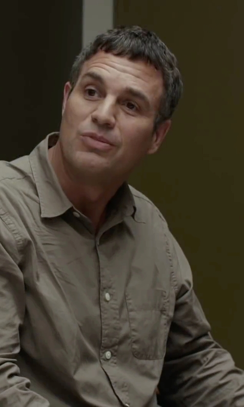 Mark Ruffalo with Tuf Cooper by Panhandle Long Sleeve Button Down in Spotlight