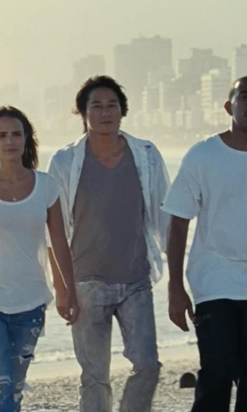 Sung Kang with Calvin Klein Men's Slim-Fit Seersucker Long-Sleeve Shirt in Fast Five