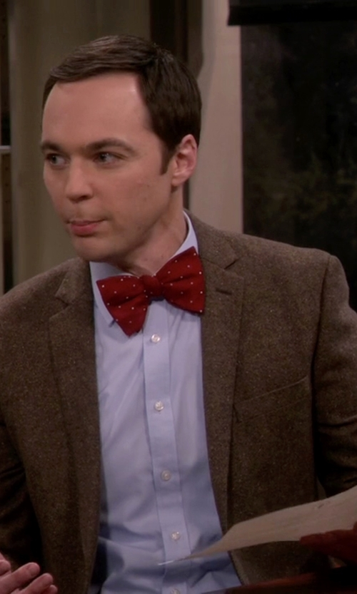Jim Parsons with Jones New York Corey Herringbone Sport Coat in The Big Bang Theory