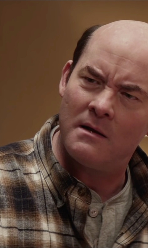David Koechner with G.H. Bass & Co. Fireside Flannel Shirt in Krampus