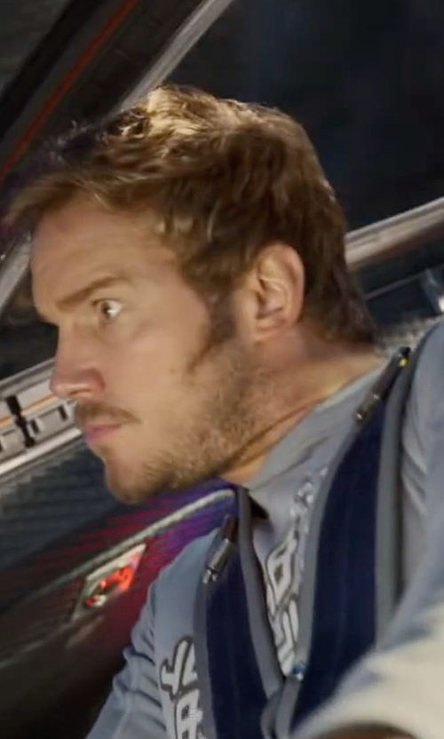 Chris Pratt with Tee Public Star-Lord Long Sleeve Shirt in Guardians of the Galaxy Vol. 2