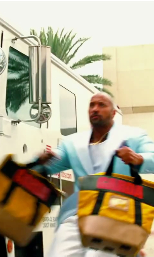 Dwayne Johnson with Manhattan Portage Cordura Lite Cherry Hill Tote Bag in Pain & Gain