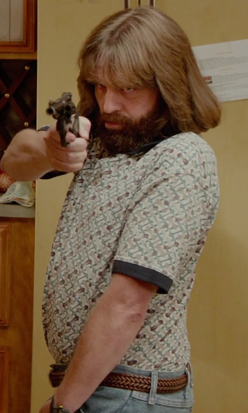 Zach Galifianakis with Bills Khakis Braided Leather Belt in Masterminds